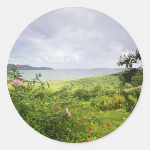 Le Robert, Martinique flowers Classic Round Sticker