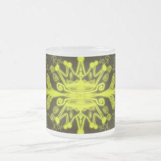 Le roi frosted glass coffee mug