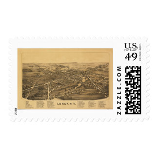Le Roy New York (1892) Postage Stamp