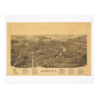 Le Roy Nueva York (1892) Plantillas De Membrete