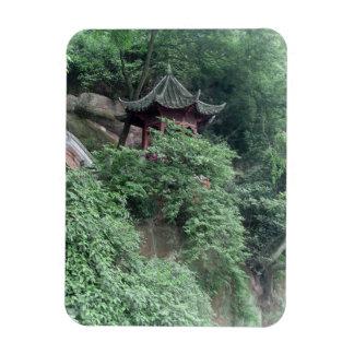 Le Shan Mountainside Buddhist Pavilion Magnet