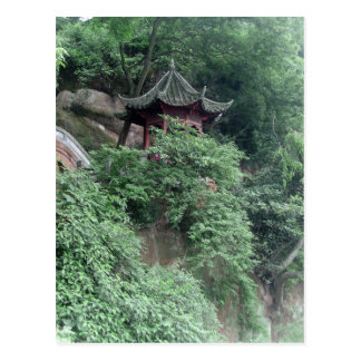 Le Shan Mountainside Buddhist Pavilion Post Card