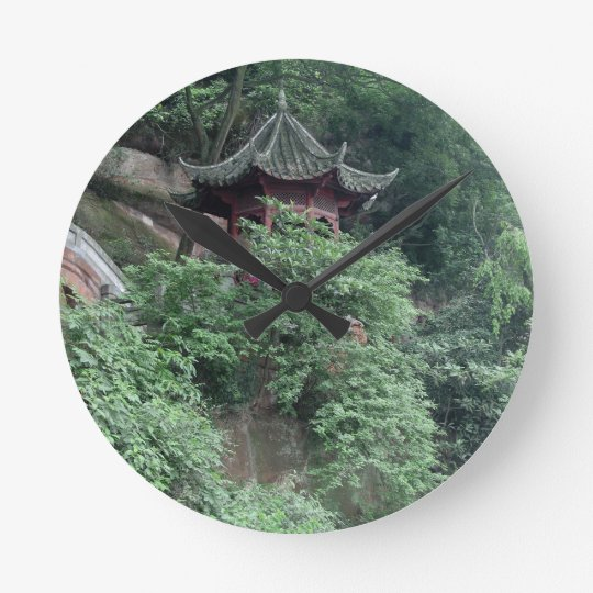 Le Shan Mountainside Buddhist Pavilion Round Clock