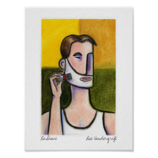 Le Shave by Lee Vandergrift Poster