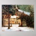 Le Sidaner: Casa en nieve Póster