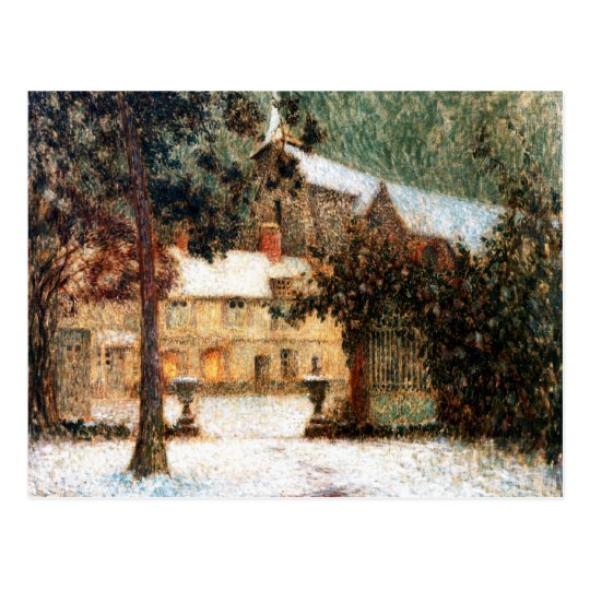 Le Sidaner: House in Snow Postcard