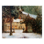 Le Sidaner: House in Snow Print