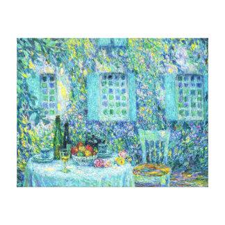 Le Sidaner La tabla y el Sun en las hojas Lienzo Envuelto Para Galerias