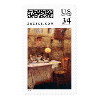 Le Sidaner: Table in Evening Stamp