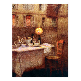 Le Sidaner: Table in Evening Postcard
