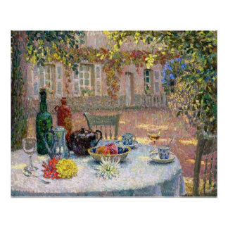 Le Sidaner: Table under Leaves in the Sun Print
