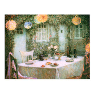 Le Sidaner: Table with Lanterns Postcard