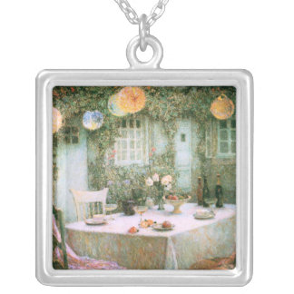Le Sidaner: Table with Lanterns Square Pendant Necklace