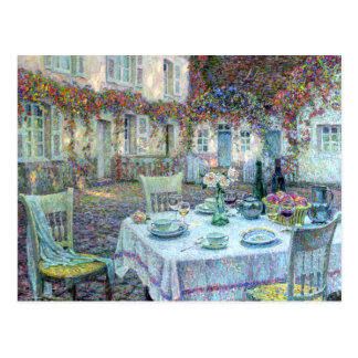 Le Sidaner: Table with Roses at Gerberoy Postcards