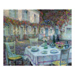 Le Sidaner: Table with Roses at Gerberoy Print