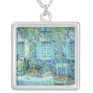 Le Sidaner: The Table and the Sun on the Leaves Square Pendant Necklace