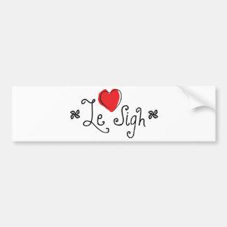 Le Sigh Bumper Sticker
