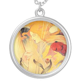 Le Sillon, Fernand Toussaint Round Pendant Necklace