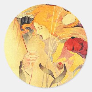 Le Sillon, Fernand Toussaint Round Stickers