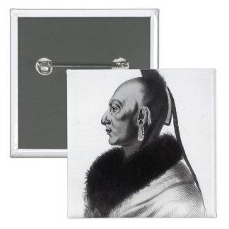 Le Soldat du Chene, an Osage Chief Pin