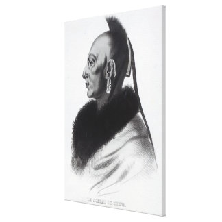 Le Soldat du Chene, an Osage Chief Gallery Wrapped Canvas