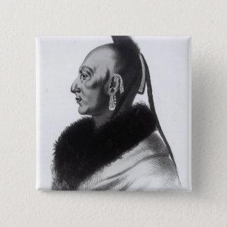 Le Soldat du Chene, an Osage Chief Pinback Button