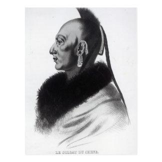 Le Soldat du Chene, an Osage Chief Postcard