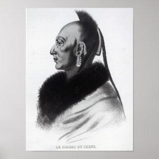 Le Soldat du Chene, an Osage Chief Poster