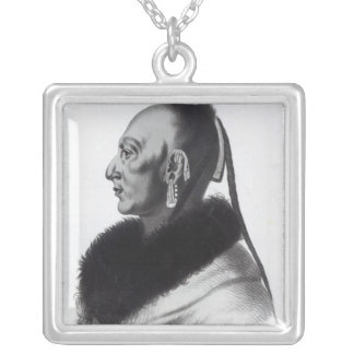 Le Soldat du Chene, an Osage Chief Silver Plated Necklace