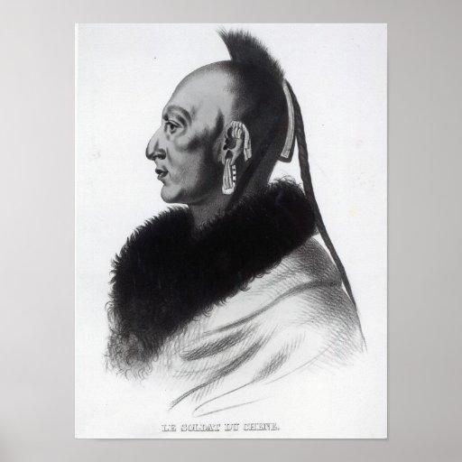Le Soldat du Chene, jefe de Osage Impresiones