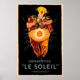Le Soleil Conserves Vintage Ad Poster