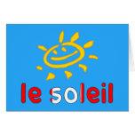 Le Soleil The Sun en vacaciones de verano canadien Felicitación
