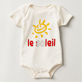 Le Soleil The Sun in Canadian Summer Vacation Baby Bodysuit