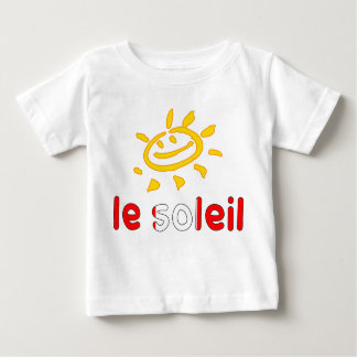 Le Soleil The Sun in Canadian Summer Vacation Baby T-Shirt