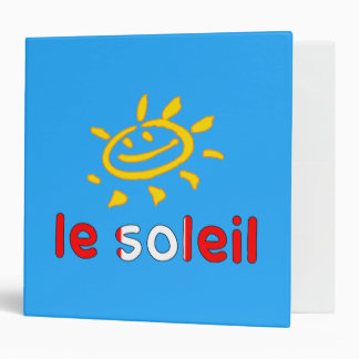 Le Soleil The Sun in Canadian Summer Vacation Binder