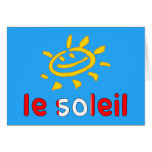 Le Soleil The Sun in Canadian Summer Vacation Card