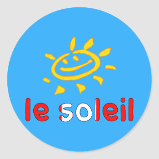 Le Soleil The Sun in Canadian Summer Vacation Classic Round Sticker
