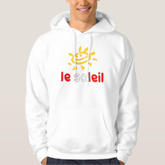 Le Soleil The Sun in Canadian Summer Vacation Hoodie
