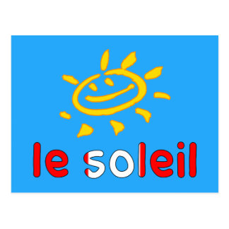 Le Soleil The Sun in Canadian Summer Vacation Postcard