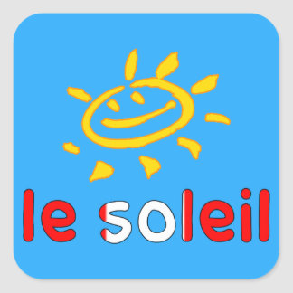 Le Soleil The Sun in Canadian Summer Vacation Square Sticker
