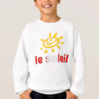 Le Soleil The Sun in Canadian Summer Vacation Sweatshirt