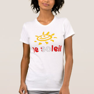 Le Soleil The Sun in Canadian Summer Vacation T-Shirt