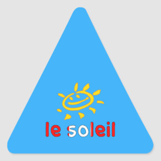 Le Soleil The Sun in Canadian Summer Vacation Triangle Sticker