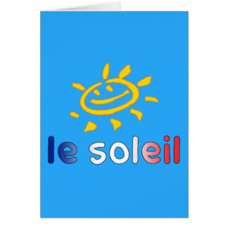Le Soleil The Sun in French Summer Vacation Card