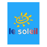 Le Soleil The Sun in French Summer Vacation Post Cards
