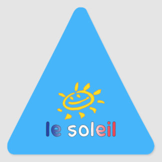Le Soleil The Sun in French Summer Vacation Triangle Stickers