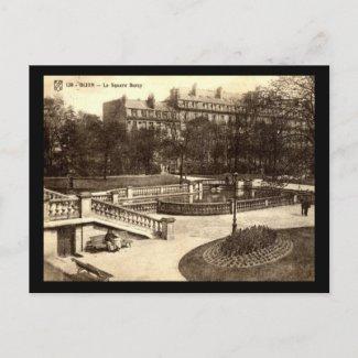 Le Square Darcy, Dijon, France Vintage postcard