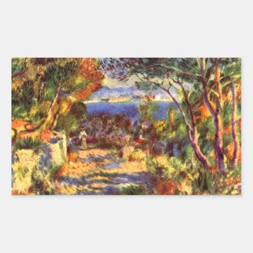 Le Staque by Pierre Renoir Rectangular Sticker