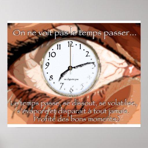 le temps póster