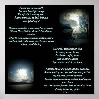 Le tengo en mi poema de la vista… poster de las le